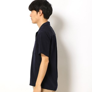 【WEB限定】 ドライスムースオープンカラーシャツ/ (メンズ) ナノ・ユニバース 【18AW】 (nano universe)