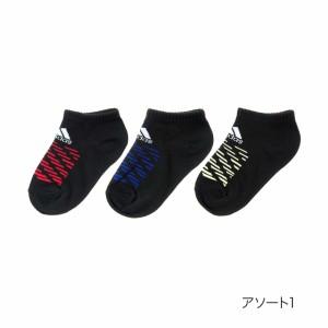 0eaad9512fe3e 福助(FUKUSKE)/トドラー adidas(アディダス) 3足組 甲ロゴ 強
