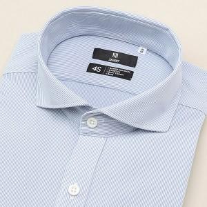 41309e55eac580 スーツセレクト(メンズ)(SUIT SELECT)/ホリゾンタルカラードレスシャツ/ブルー