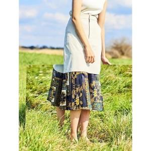 1d1417f0f9647  NEW レディメイド(LADYMADE) スカーフレイヤードアレンジアシメスカート