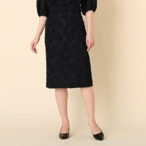 クチュールブローチ(Couture Brooch)/カットジャガードミモレ丈スカート