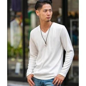 A・S・M(A.S.M)/ランダムテレコ / Vネック ロングスリーブ Tシャツ(長袖)