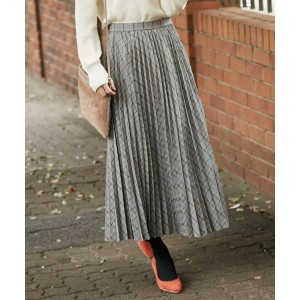 エニィスィス(any SiS)/【洗える】チェックプリーツロング スカート