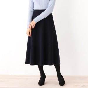 スープ(SOUP)/【大きいサイズあり・13号・15号】サイドボタンミモレ丈スカート