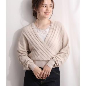 ビス/【セットアップ対応】プリーツ編みカシュクールプルオーバー