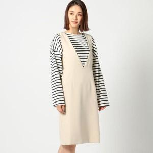 ミューズ リファインド クローズ(MEW'S REFINED CLOTHES)/Vネックジャンパースカート