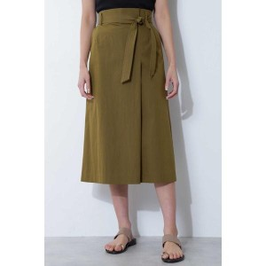 ボッシュ/[ウォッシャブル]ベルト付タックロングスカート