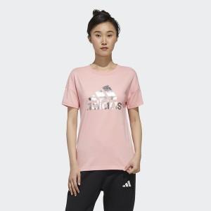 アディダス(スポーツオーソリティ)(adidas)/レディースアパレル W SHINY BOS Tシャツ