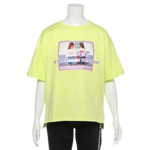 ブルークロスガールズ(BLUE CROSS girls)/GIRLフォトプリントロゴTシャツ