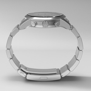wena wrist/ユニセックス時計(Chronograph Silver)