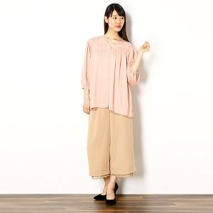 ローズペッシュ(Rose Peche)/【M〜4L】【大きいサイズ有り】【TV通販で大好評】 花柄コード刺繍ブラウス