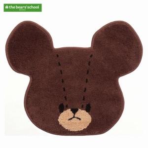くまのがっこう(the bear's school)/ジャッキーの顔型アクセントマット(約50×60cm) ジャッキーフェイス