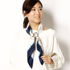 伝統横濱スカーフ/【88×88cm】シルク100%スカーフ(レディース)日本製