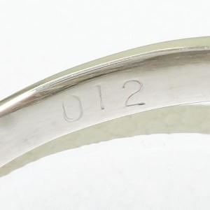 PT900 プラチナ リング 11号 パール ダイヤ 0.12 中古ジュエリー