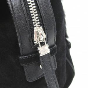 Ferragamo フェラガモ ファーショルダーバッグ ガンチーニ 黒【中古】