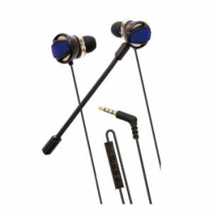 PS4用 ゲーミングイヤホンヘッドセット(ブラック/ブルー) ANS-PF059BB