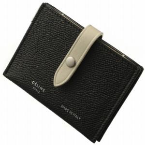 b7a30bd92a85 セリーヌ CELINE ストラップ カードケース バイカラー ブラック×ホワイト 10A57 3AI5 38BJ
