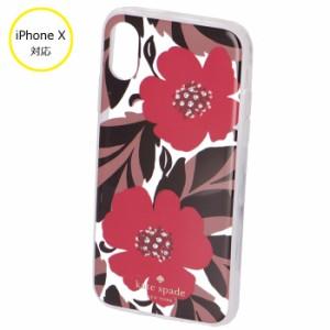 f45a93c2a2 ケイトスペード KATE SPADE iphonex アイフォンケース スマホケース JEWELED POPPY FIELD - X  iPhoneXケース