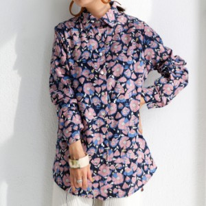 フラワーシャツ 柄シャツ シャツ レディース 長袖 送料無料・8月9日10時〜再販。メール便不可