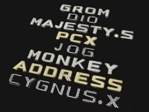 MADMAX ダイヤ文字エンブレム カラー:ゴールド 仕様:文字:スター(星)
