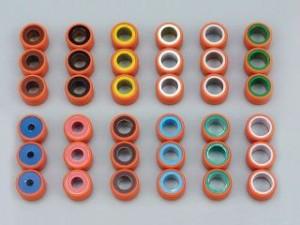 デイトナ スーパースプリントウエイトローラー(3個セット) 外径φ15×幅12mm 重量:6.5g(赤)