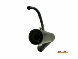マッドマックス エイプ50 マフラー本体 4MINIパーツ エイプ50用 ショート管マフラー ブラック