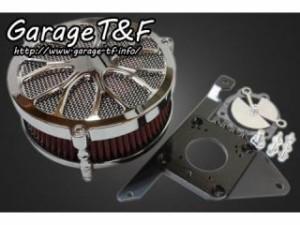 ガレージT&F ラグジュアリーエアクリーナーキット フラワー カラー:メッキ