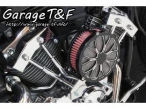 ガレージT&F ラグジュアリーエアクリーナーキット フラワー カラー:コントラスト
