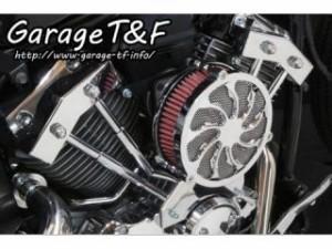 ガレージT&F ラグジュアリータイフーン&プッシュロッドカバーセット カラー:メッキ