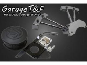 ガレージT&F SU&プッシュロッドカバーセット カラー:マッドブラック