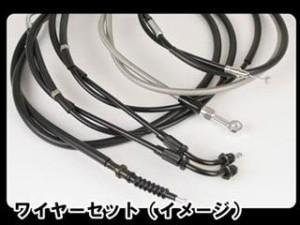 グッズ TW200 ハンドル関連パーツ ナロートラッカーバー ブラック AMAL364ホルダー ワイヤー セット クローム