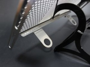 エッチングファクトリー CB1100 CB1100EX オイルクーラー関連パーツ CB1100用 オイルクーラーガード 黒エン…
