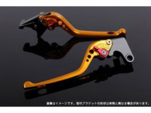 SSK ニンジャ250 レバー アジャストレバー 3Dタイプ クラッチ&ブレーキセット ゴールド ブルー