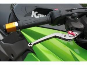 SSK ニンジャ250R レバー アルミビレット可倒式アジャストレバーセット シルバー シルバー