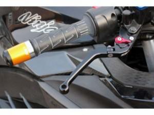 SSK ニンジャZX-6R レバー アルミビレット可倒式アジャストレバーセット ブラック シルバー
