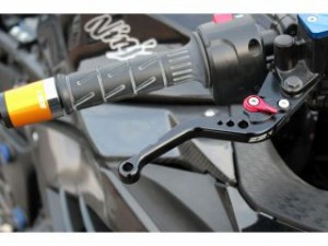 SSK ショートアジャストレバー クラッチ&ブレーキセット 本体:ブラック アジャスター:レッド