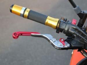 SSK Z750 Z800 レバー 可倒延長式アジャストレバー クラッチ&ブレーキセット ゴールド ブルー