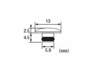 K-CON 汎用 ドレスアップ・カバー キャップボルトカバー アルミ/M8用 ゴールド