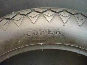 部品屋K&W 汎用 オンロードタイヤ COKER ダイヤモンド 18×4.00