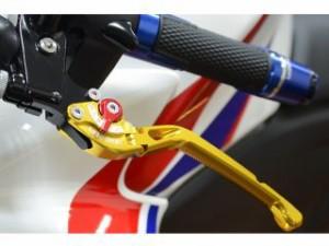 リデア ZZR400 レバー 可倒式アジャストブレーキレバー ゴールド チタン