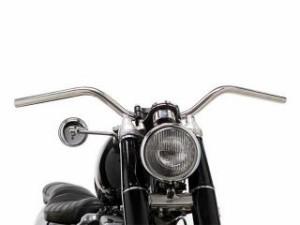 モーターロック 汎用 ハンドル関連パーツ 69バー ボバースタイル Lathe 1インチ ディンプル無し ヘアライン