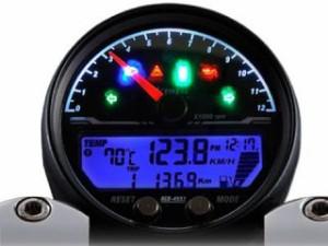 エースウェル ACE WELL スピードメーター ACE-4553 多機能デジタルメーター(回転数 12000rpm) ブラック