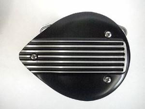 フォーク ハーレー汎用 ドレスアップ・カバー ミニフラットシェル フィン/ブラック
