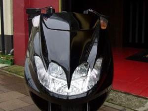 KOTANI MOTORS MAXAM用デビルマスクSS カラー:純正塗装済パープル 型式:SG21J