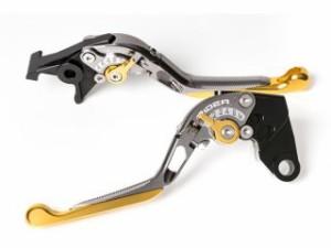リデア XJR1200 XJR1300 レバー 可倒スライド延長式アジャストレバー ブレーキ&クラッチセット チタン ゴールド