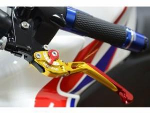 リデア FZ6R レバー 可倒スライド延長式アジャストレバー ブレーキ&クラッチセット チタン ブルー