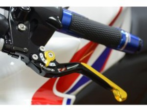 リデア CBR250R レバー 可倒スライド延長式アジャストレバー ブレーキ&クラッチセット ゴールド チタン