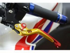 リデア CB400スーパーフォア(CB400SF) レバー 可倒スライド延長式アジャストレバー ブレーキ&クラッチセット ブラ…