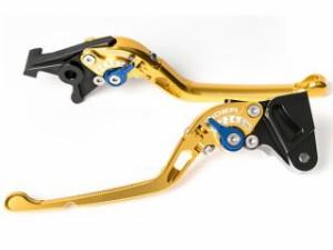 リデア NSR250R レバー 可倒式アジャストレバー ブレーキ&クラッチセット ゴールド ブラック