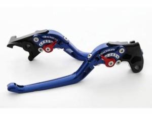 リデア シャドウ400 シャドウ750 レバー 可倒式アジャストレバー ブレーキ&クラッチセット ブルー グリーン